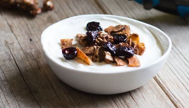 Quckly Raise Your Energy Level With Greek Yoghurt And Dried Fruit