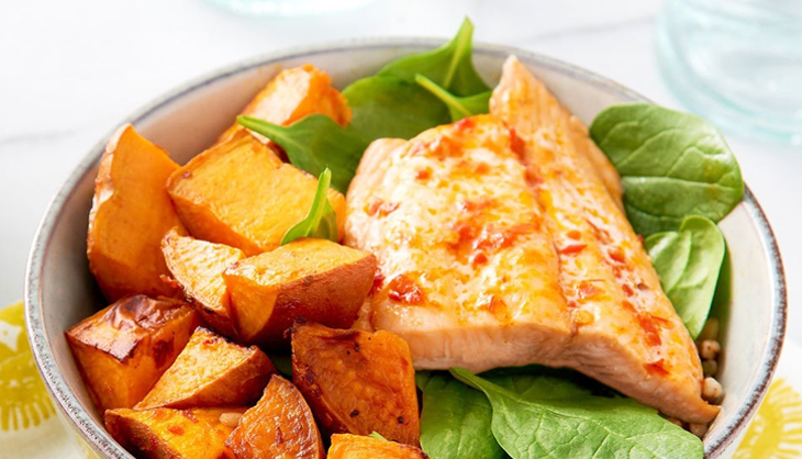 Sweet Potato & Salmon : Build And Develop Your Muscle With This High Protein Recipe